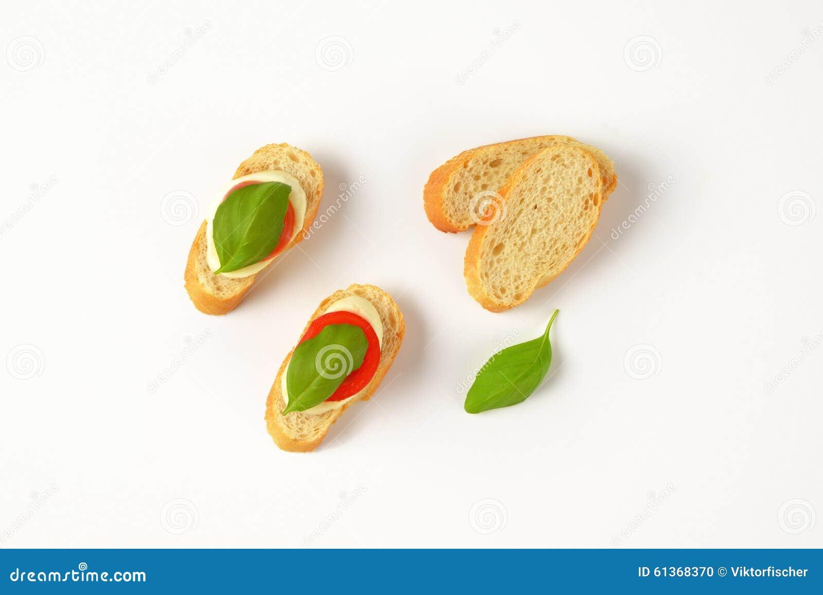 Bocadillos de la mozzarella
