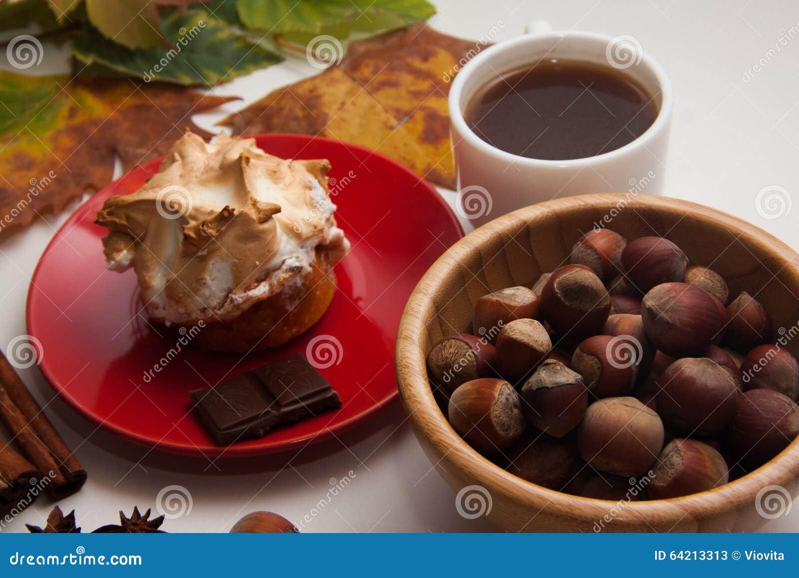 Bocados del merengue con la calabaza
