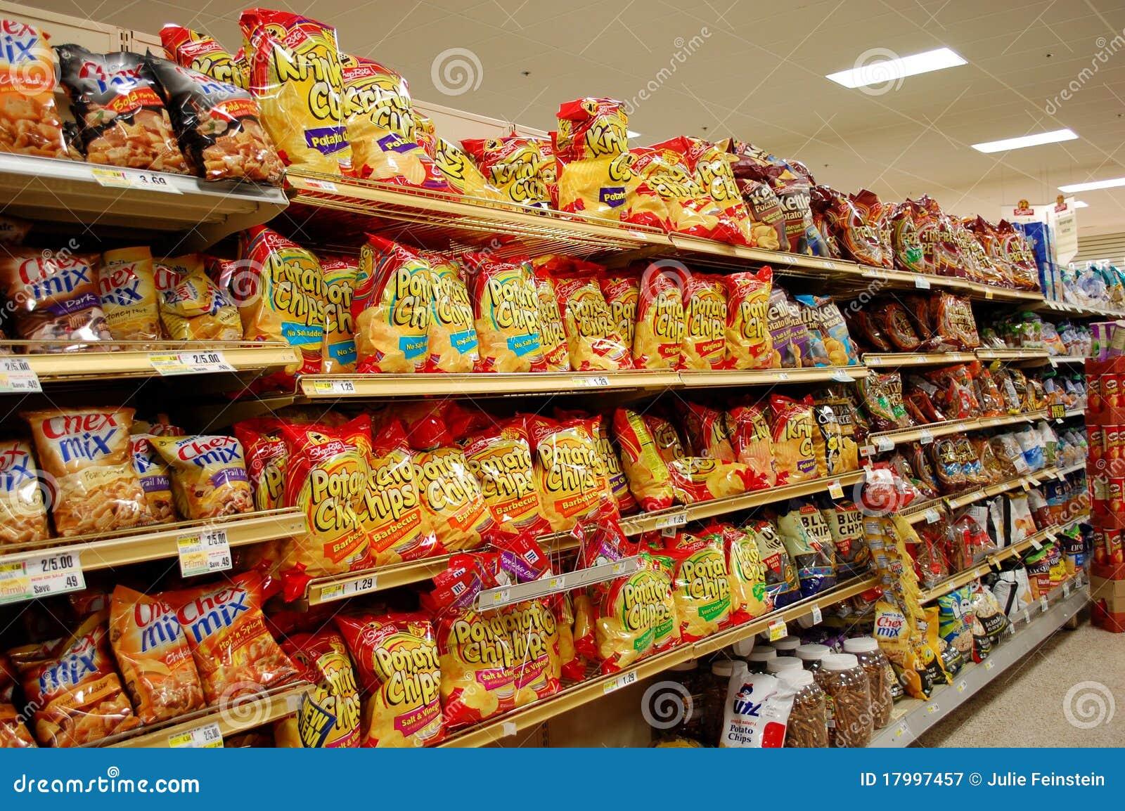 Bocados grasos en el supermercado