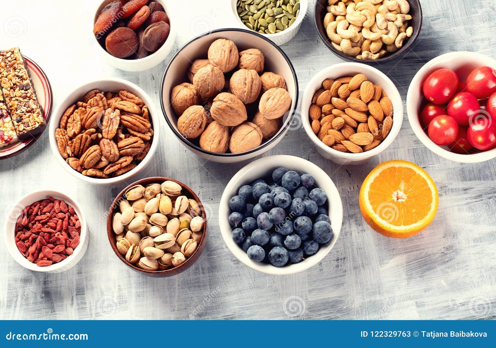 Bocados sanos Concepto sano del alimento