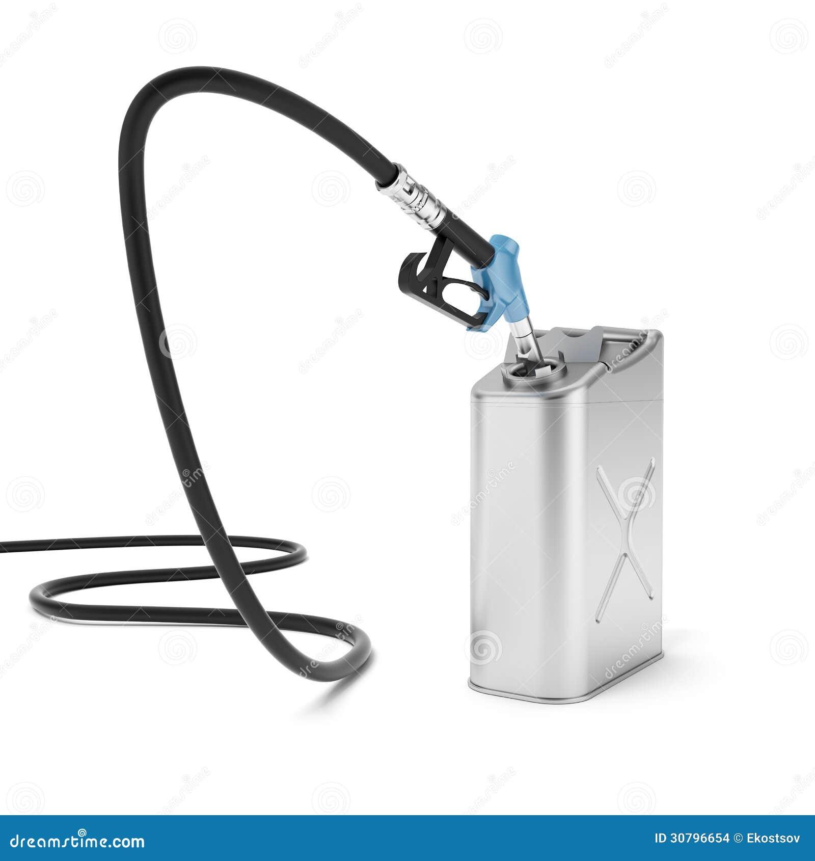 Bocal e bidão da bomba de gás