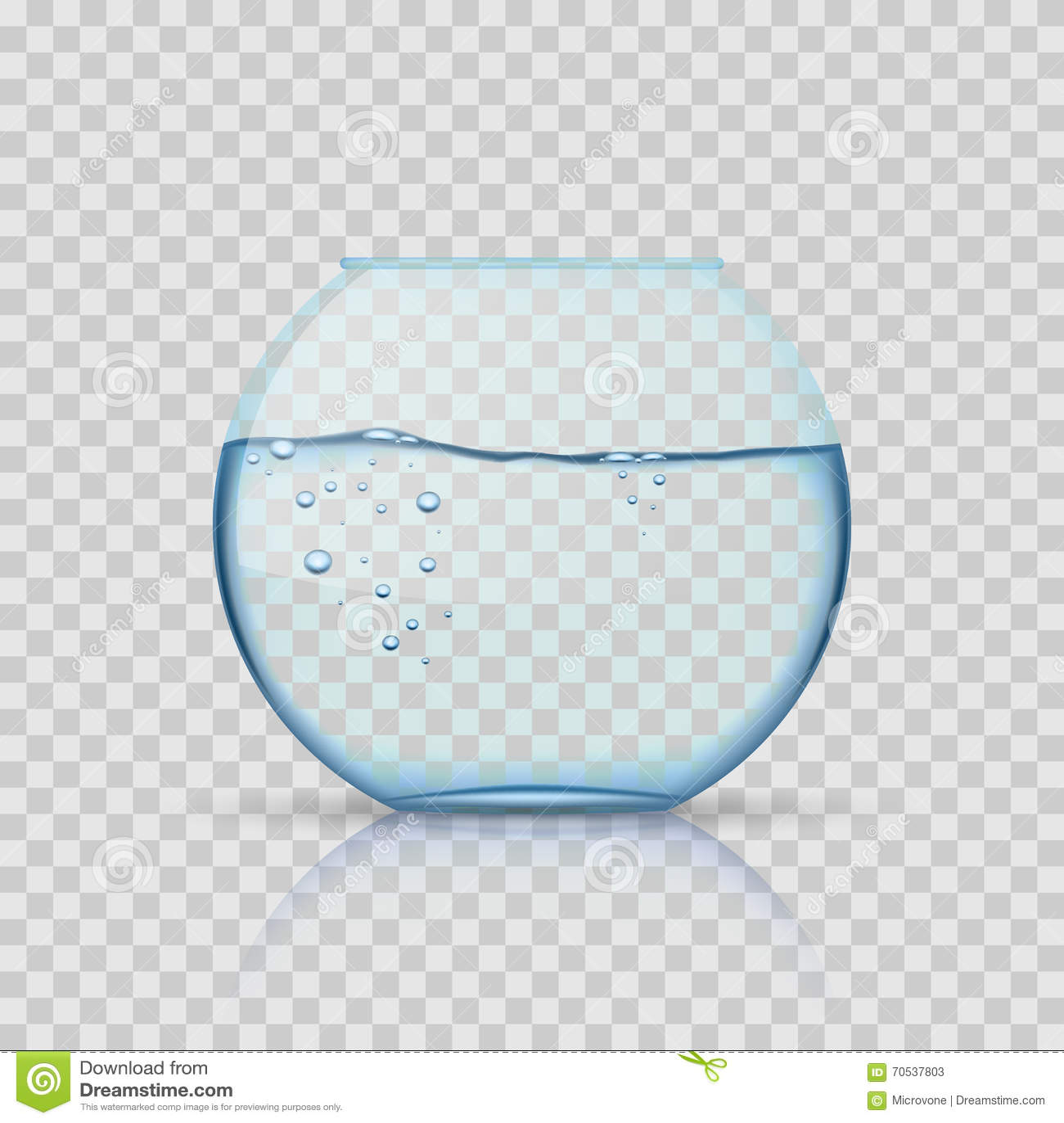 bocal poissons en verre raliste aquarium avec de l eau sur le - Lit A Eau Avec Poisson