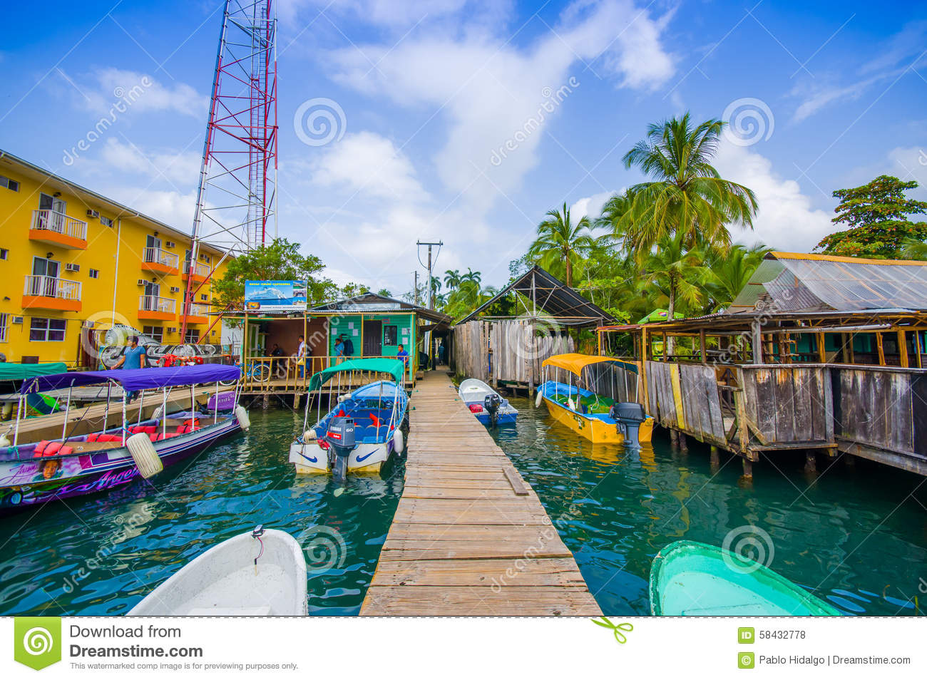 Bocas Del Toro Panama Editorial Stock Photo Image Of Bastimentos 58432778