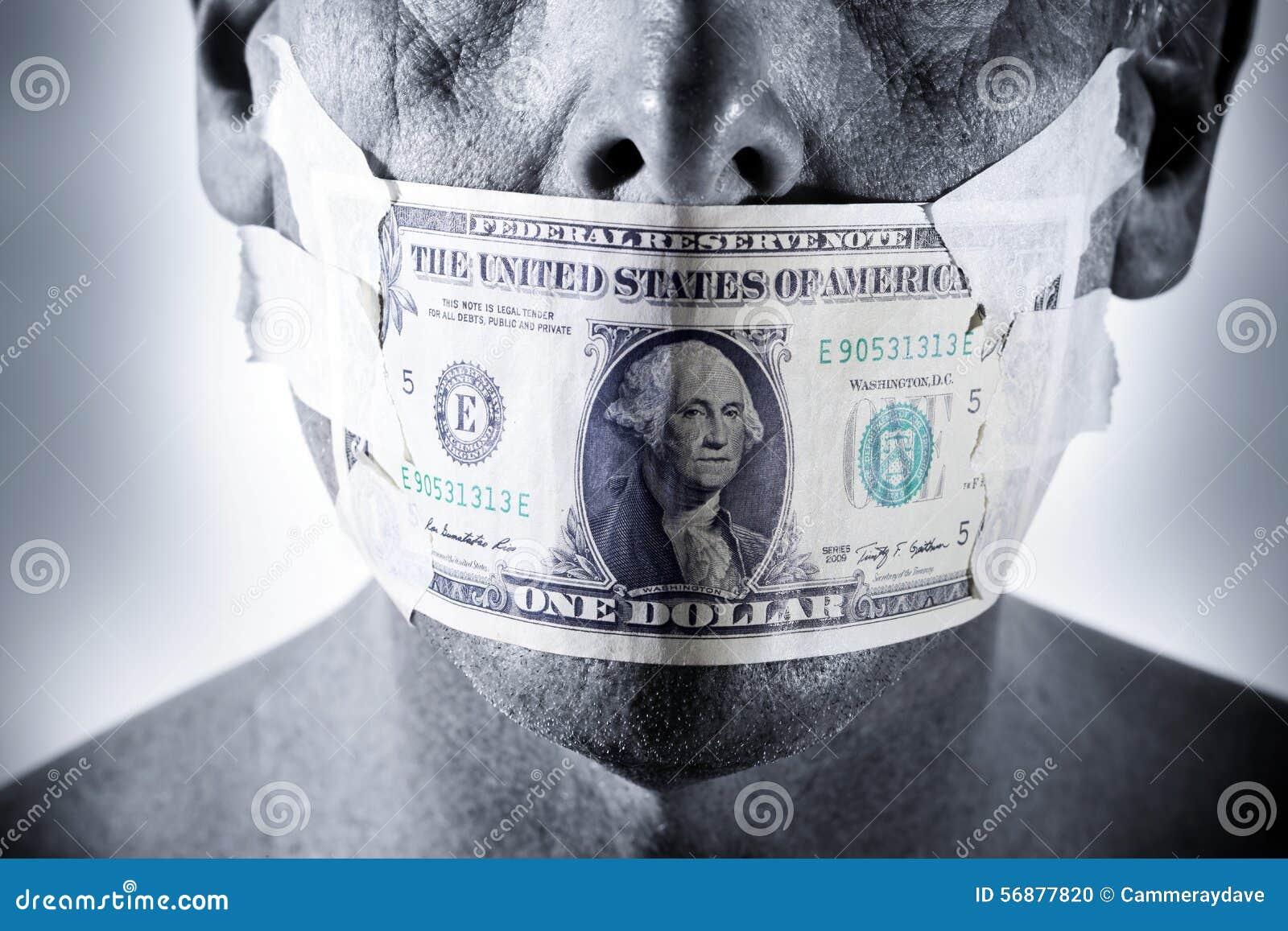 Bocca del fronte dei soldi
