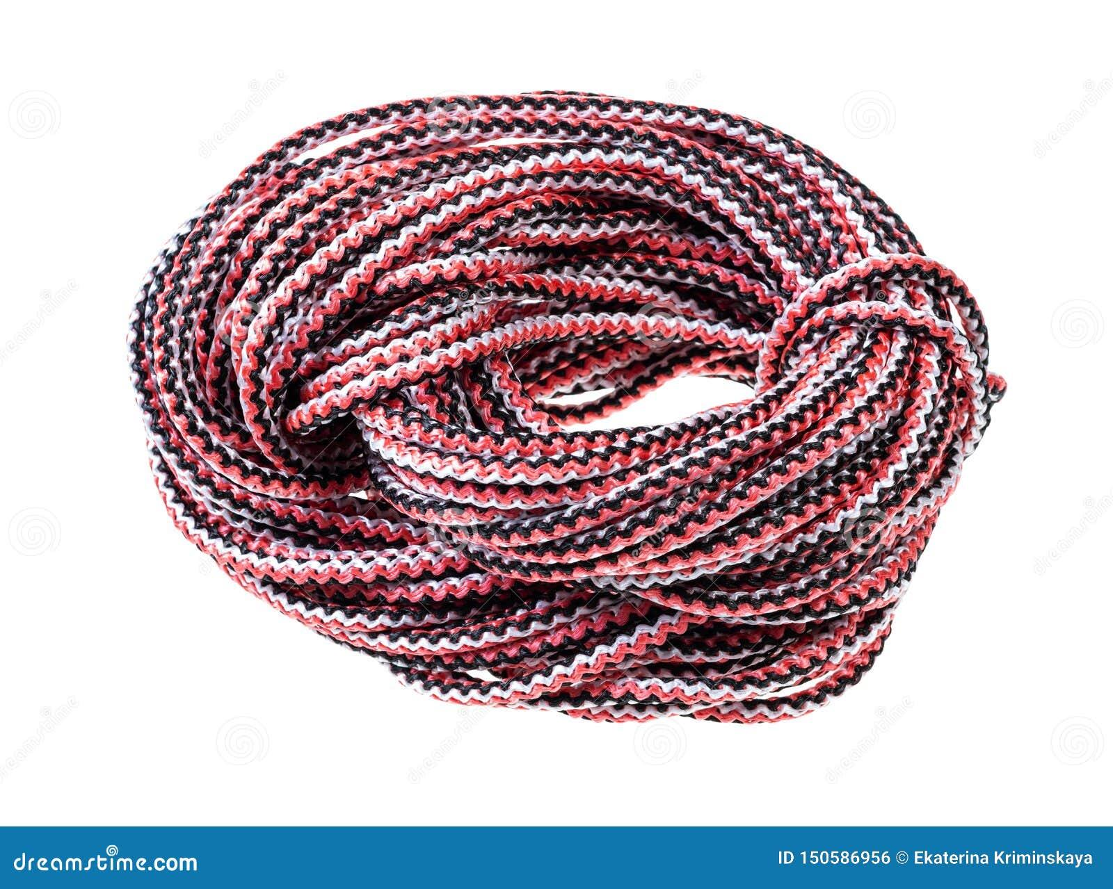 Bocht van veelkleurige synthetische verwijderde kabel