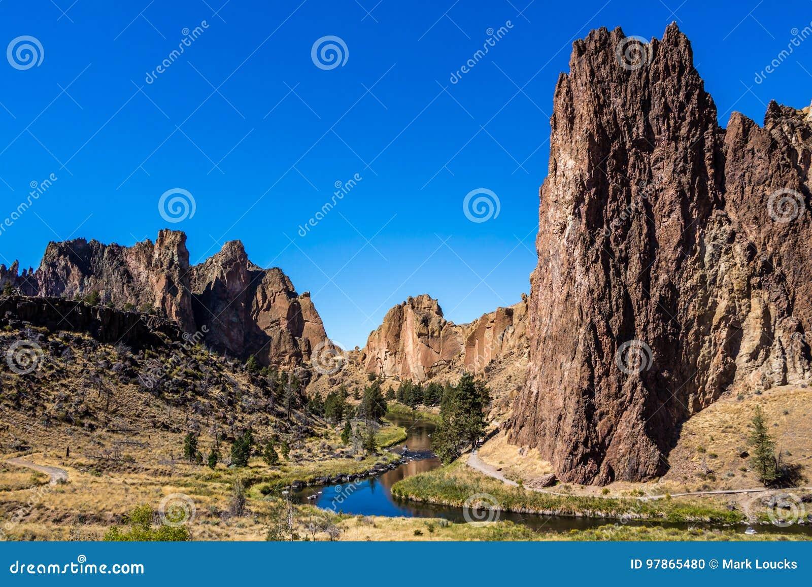 Bochtige Rivier Smith Rock State Park Oregon