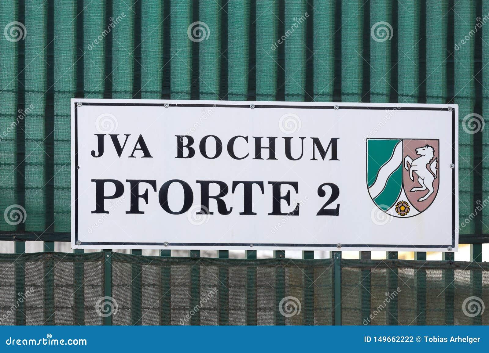 Jva bochum sign in bochum germany