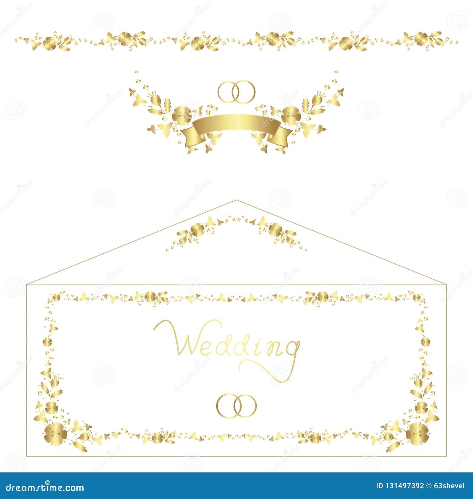 Boda Diseños Florales Letras Manuales Para Las Invitaciones