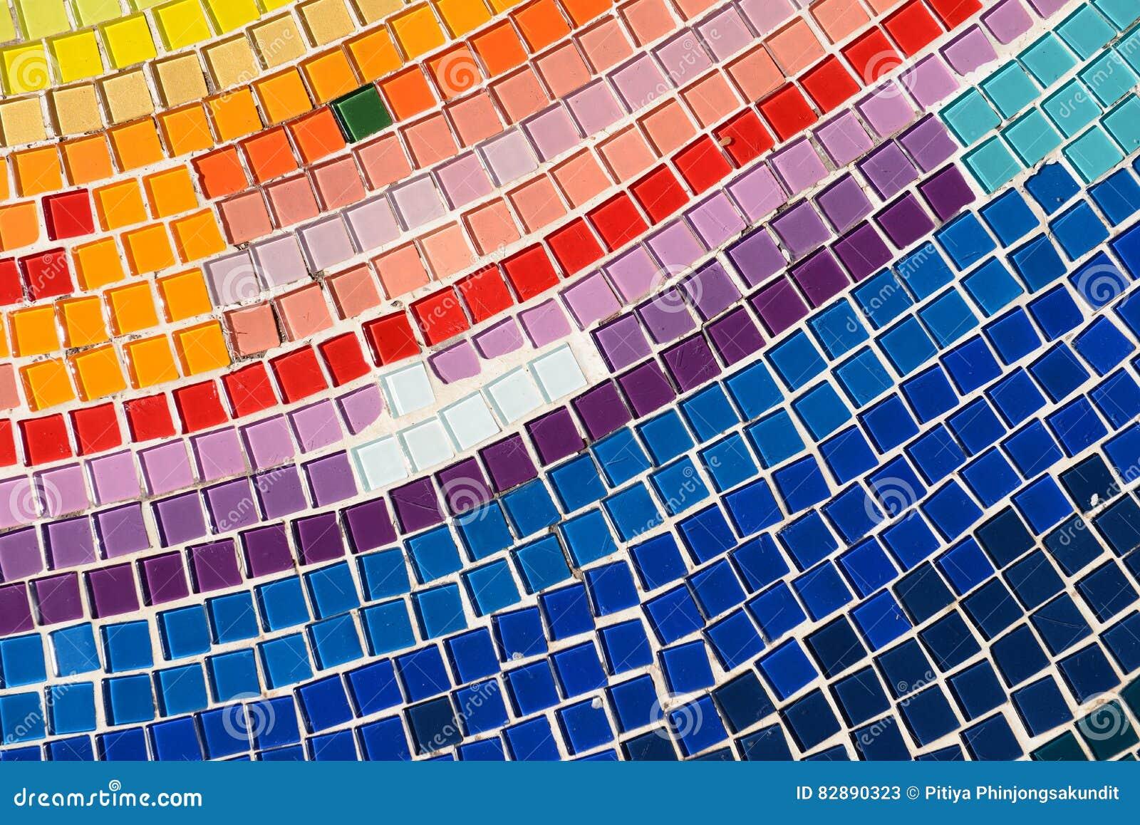 Fußboden Aus Glas ~ Boden und wände verziert mit stein und farbigem glas stockbild
