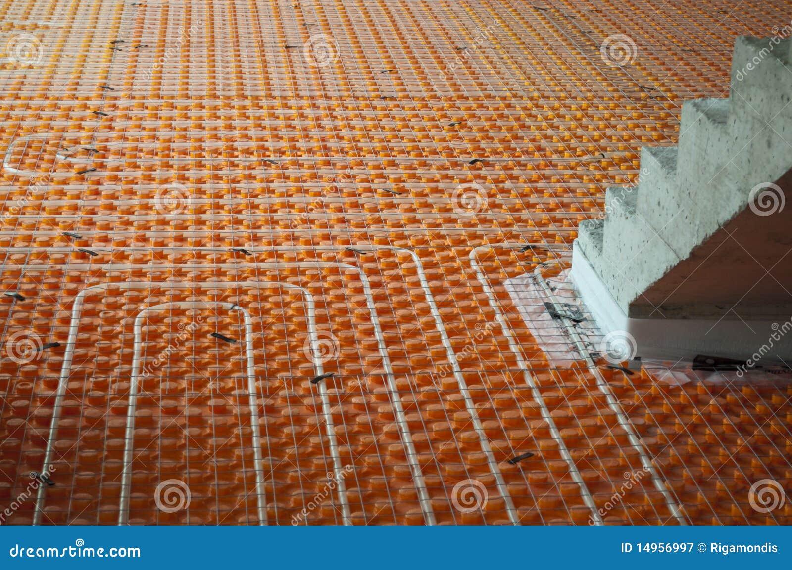 Bodenheizung mit treppen lizenzfreie stockfotografie for Boden heizung