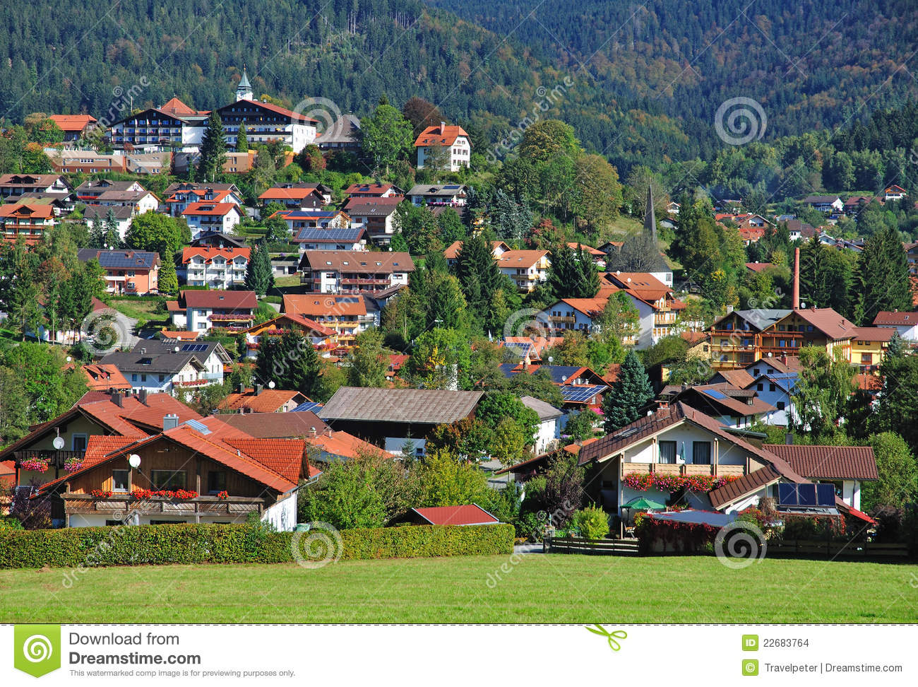 Bodenmais Bavarian Forest Germany Stock Photo Image Of Landscape