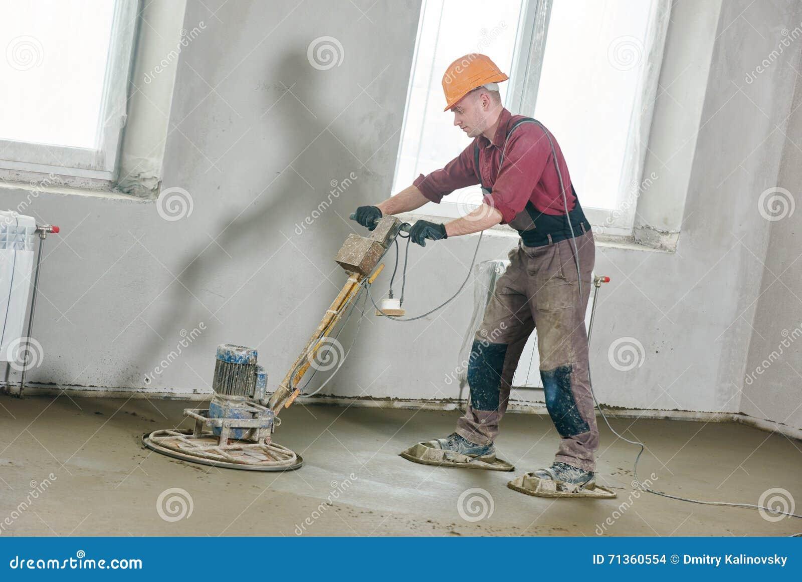 Bodenmaschine Die Durch Glattscheibe Reibt Stockfoto Bild Von