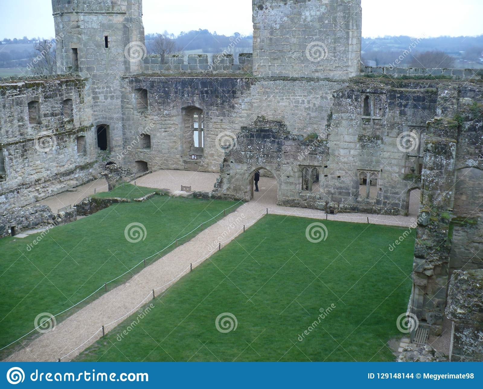 Bodiam Castle from an inner perspective