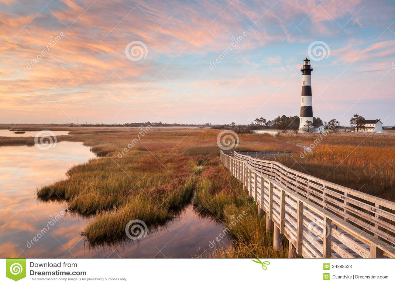 Bodie Island Lighthouse Boardwalk Autumn