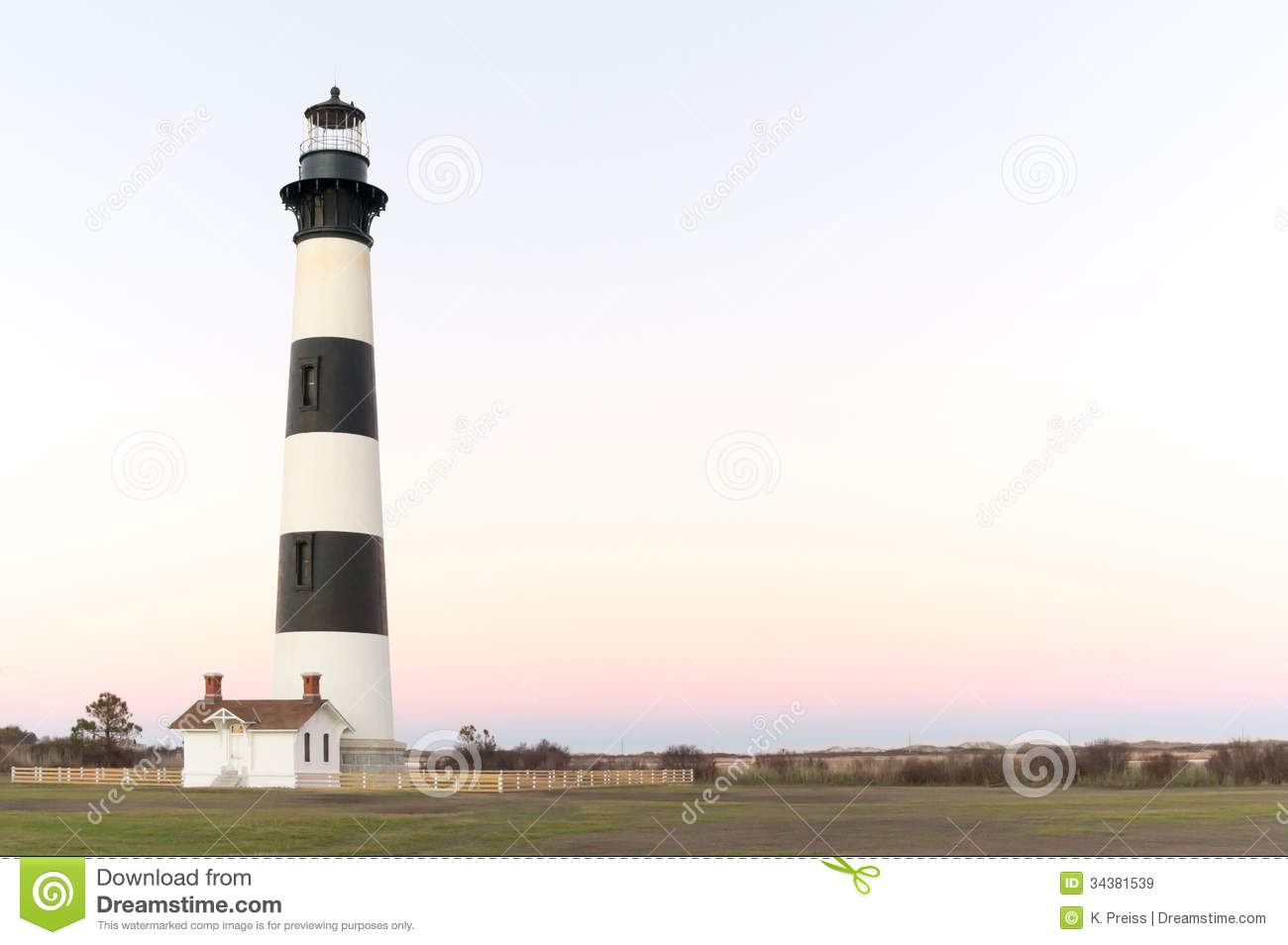 Bodie Island Lighthouse II stock image. Image of historic - 34381539