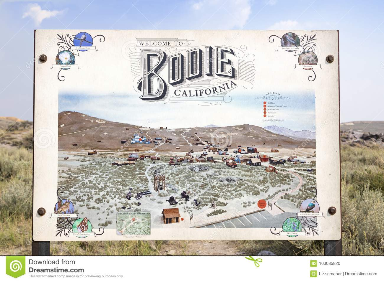 Bodie Sign Editorial Image Image Of History Mono Nevada 103085820