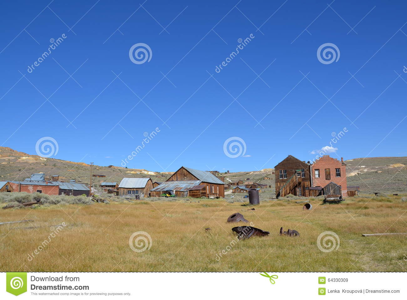 Bodie State Historic Park Stock Photo Image 64330309