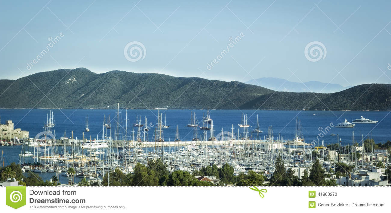 Bodrum Harbour and yachts
