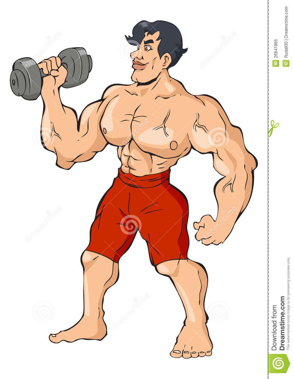 Body builder royalty free stock photo image 26841865 - Cartoon body builder ...
