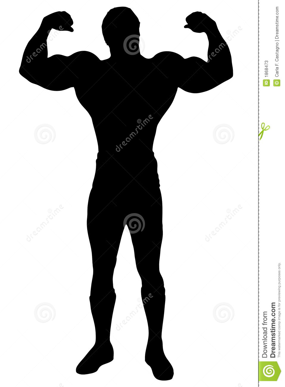Body Builder- Isolated Man Stock Photos - Image: 1868473