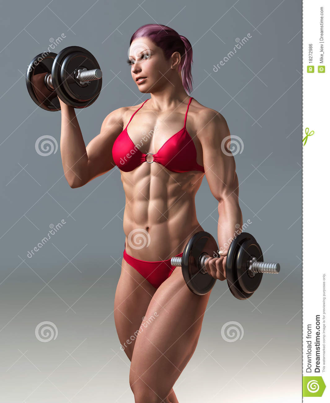 Body building woman stock photo. Image of building, female