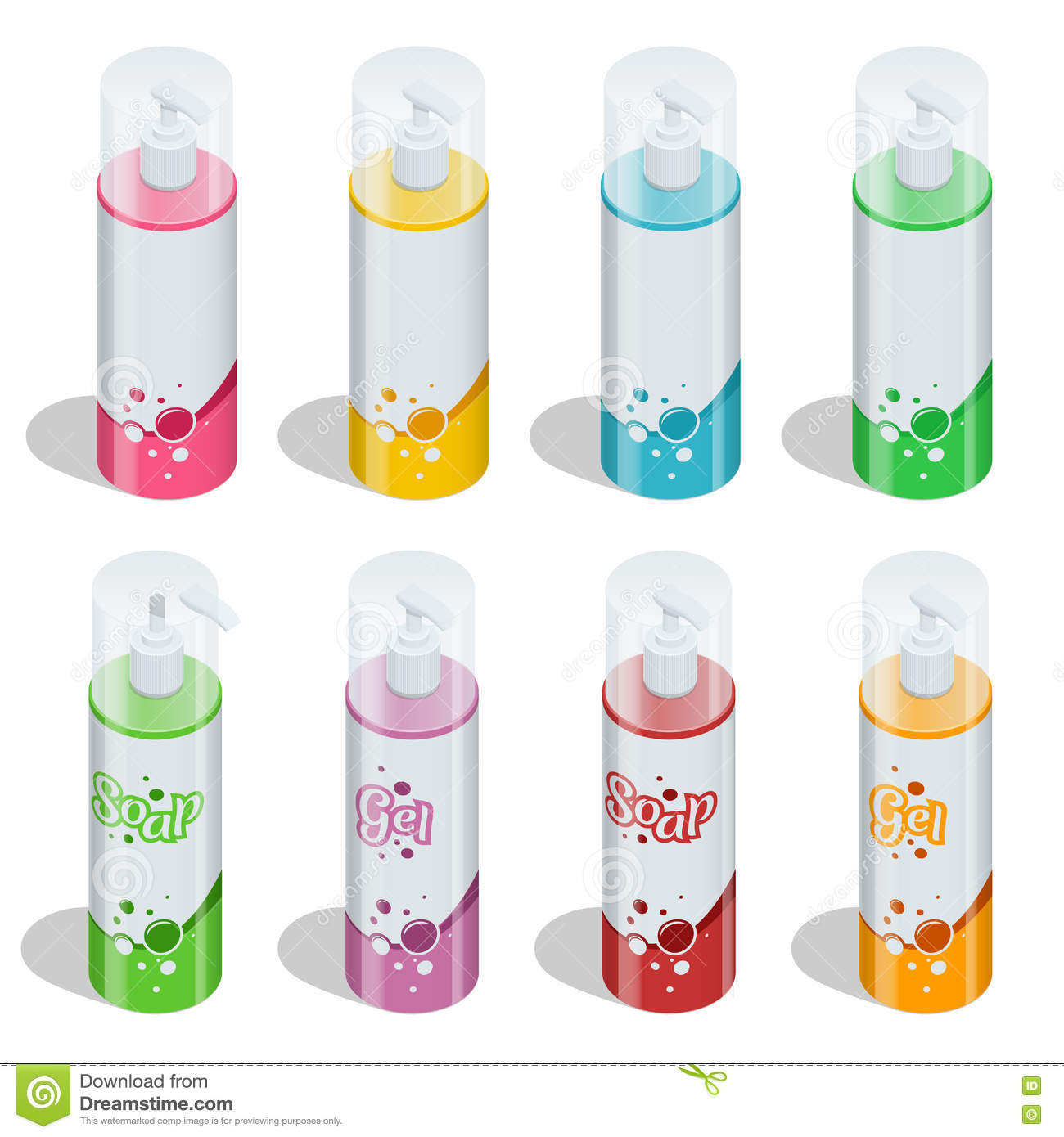 Body Care Professional Series Cosmetic Brand Concept Tube
