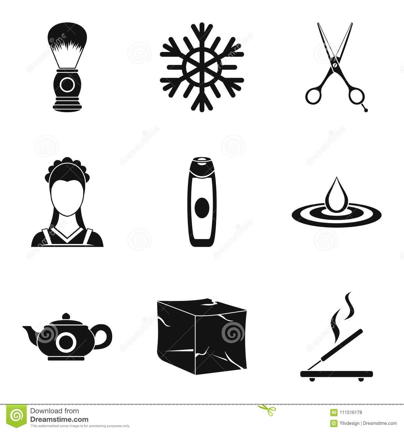 body clean icons set simple style stock vector illustration of