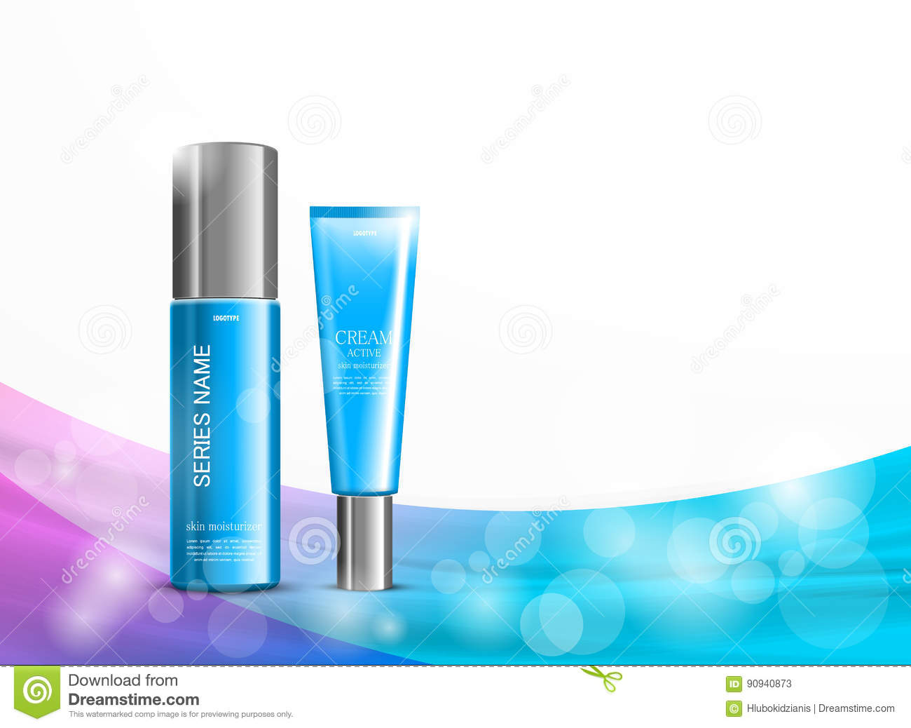body cream cosmetic ads template stock vector illustration of