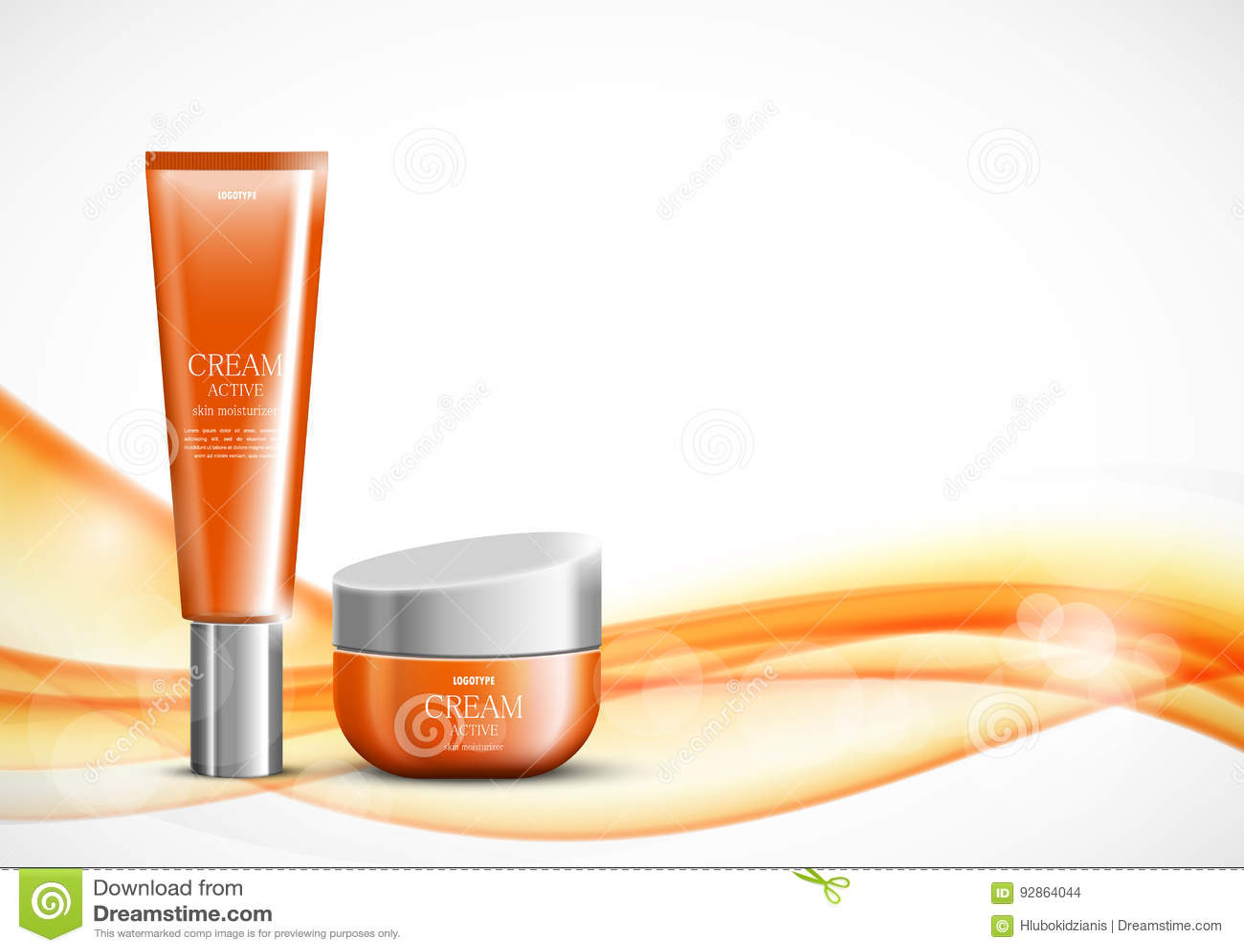 Body cream cosmetic ads template