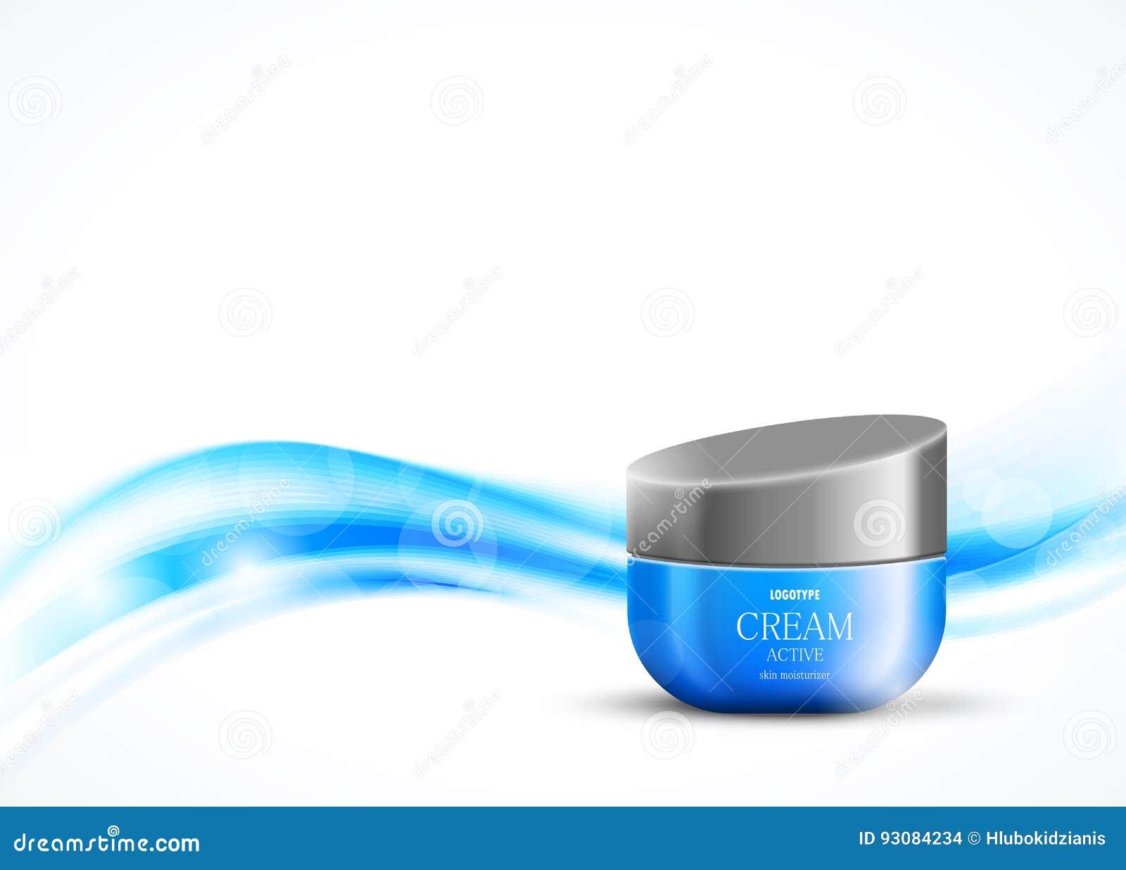 Body cream cosmetic design template