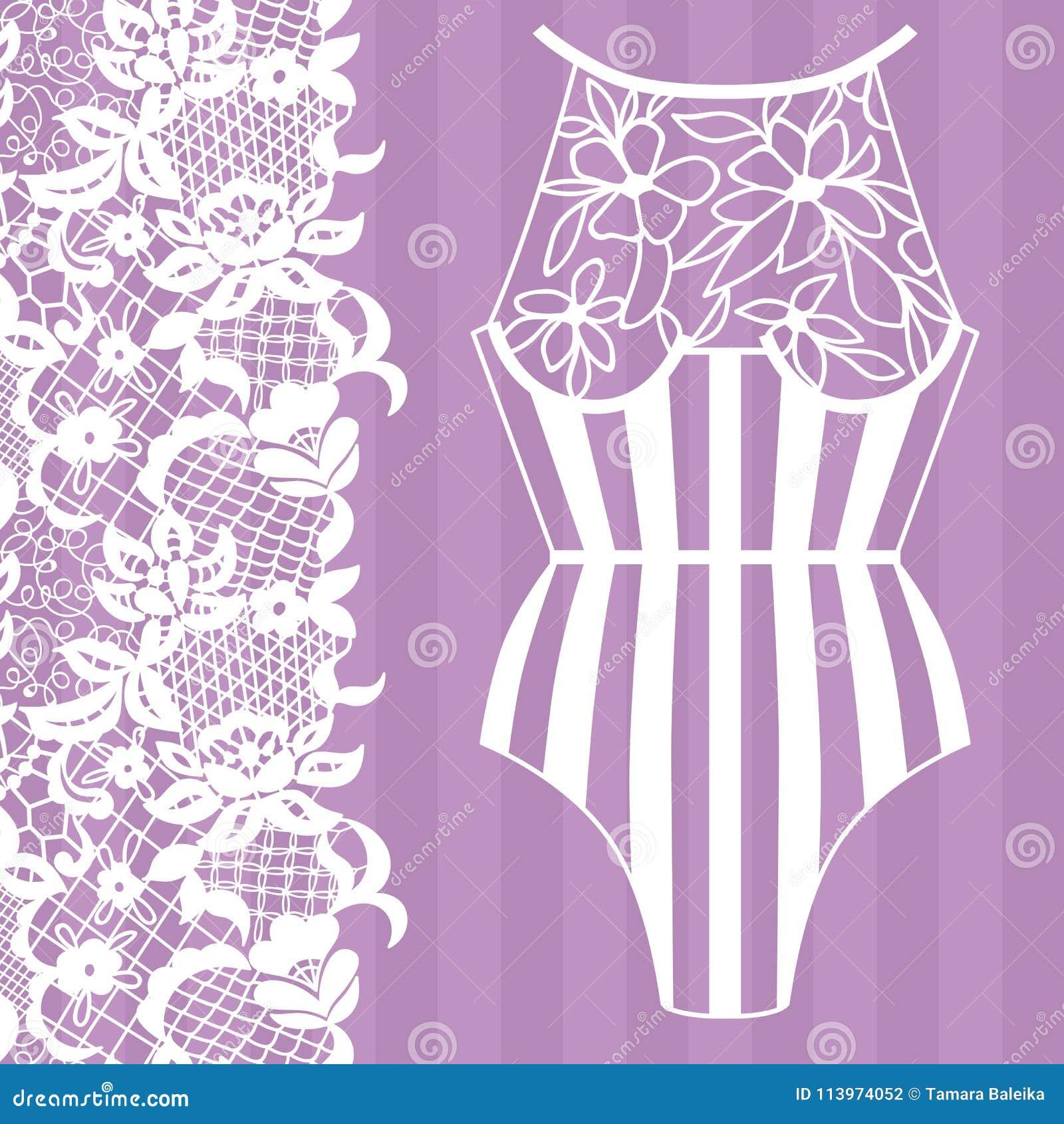 Lingerie. Lacy beautiful body Vector illustration. More similar stock  illustrations 15247fa4b