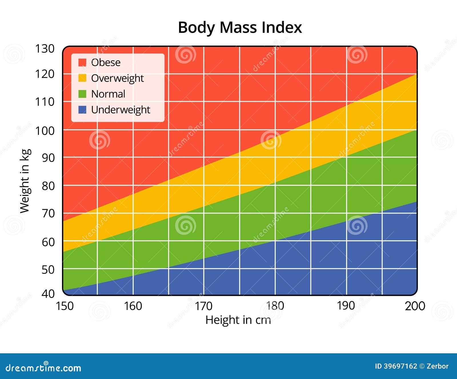 Body Maß Index In Cm Und In Kilogramm Stock Abbildung ...