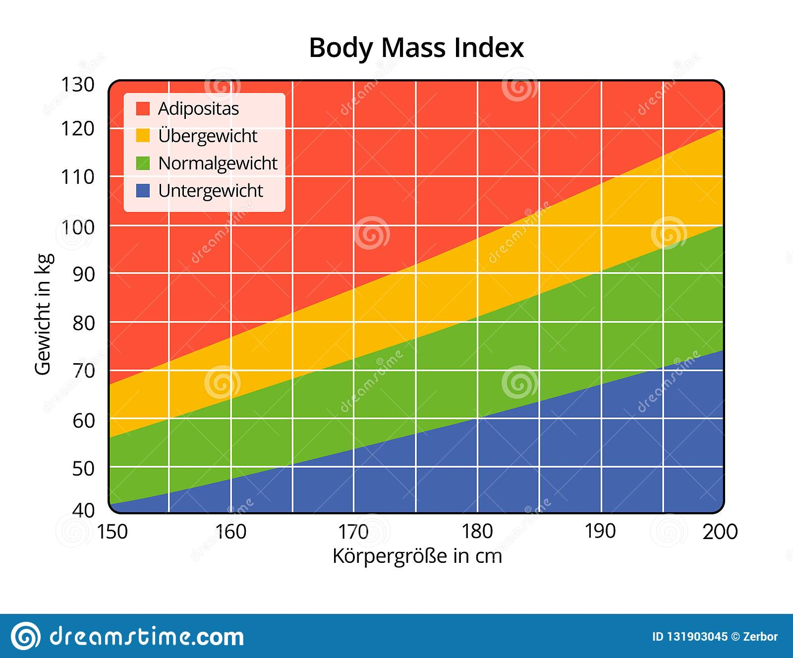 Body Mass Index in cm and kg German labeling