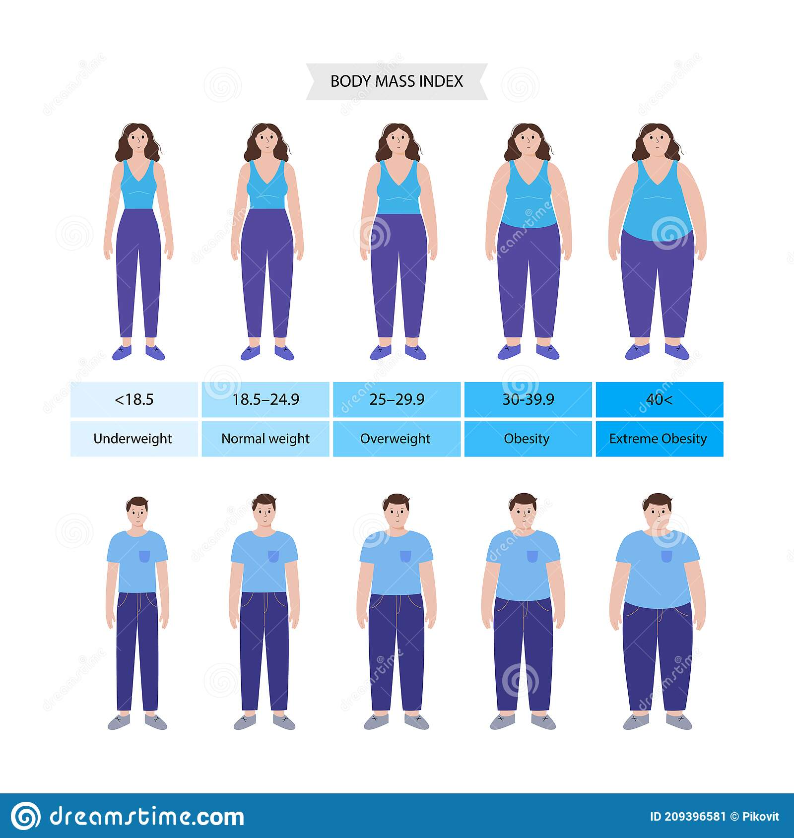 Body mass index stock vector. Illustration of infographic   20
