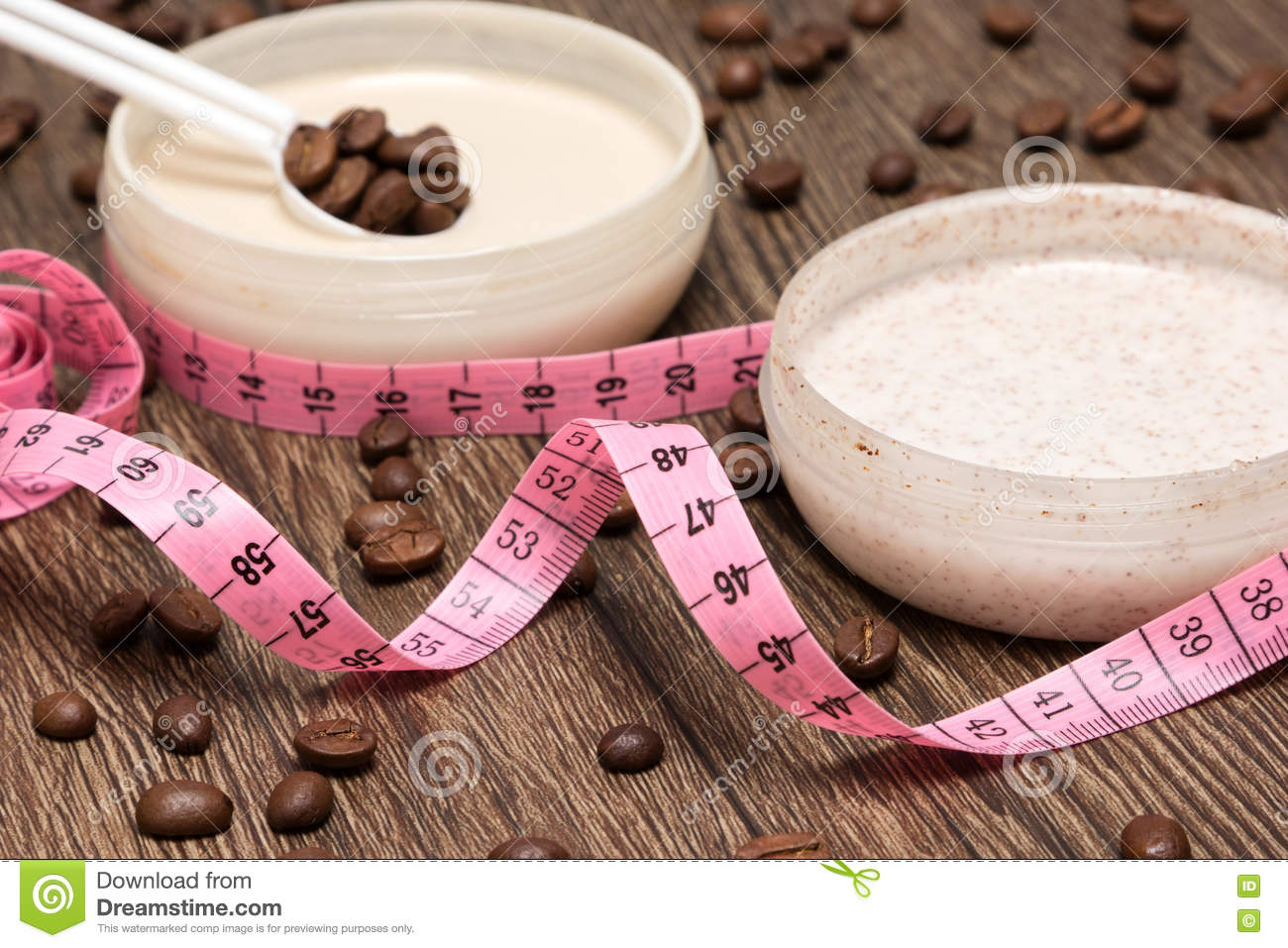 Body measuring tape and anti-cellulite cosmetic products