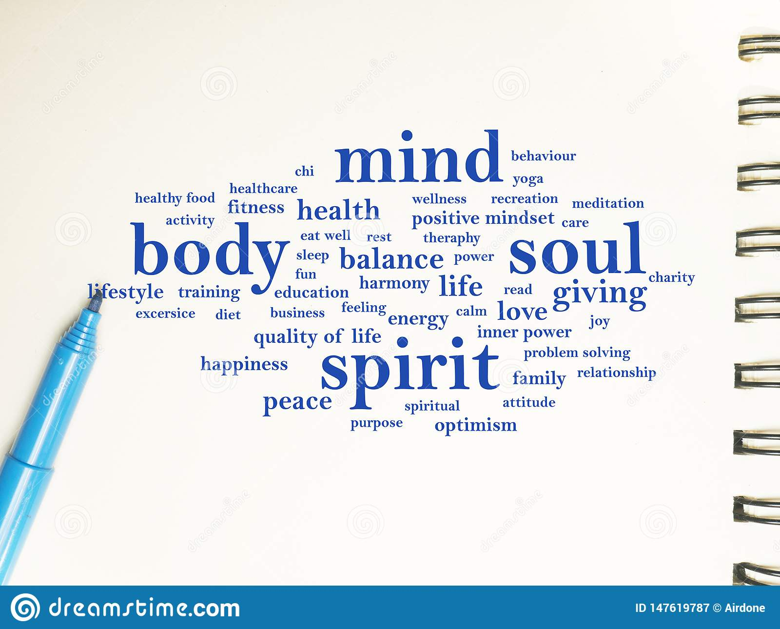 Body Mind Soul Spirit Motivational Words Quotes Concept Stock Image Image Of Inspiration Personality 147619787