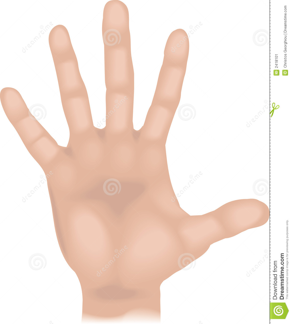 Body parts hand stock vector. Illustration of vector ...