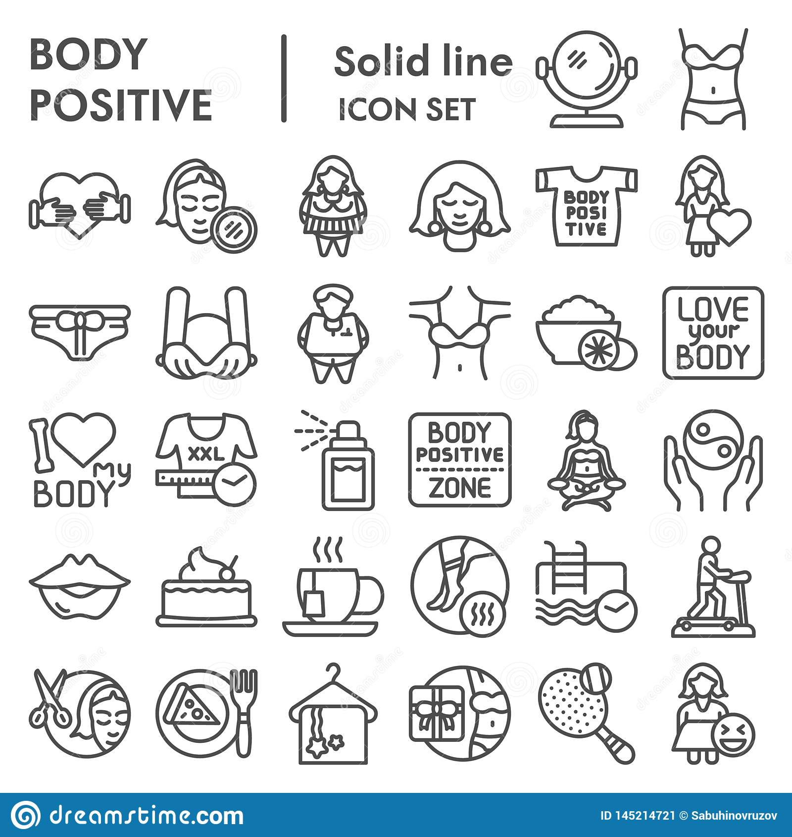 Body Positive Line Art