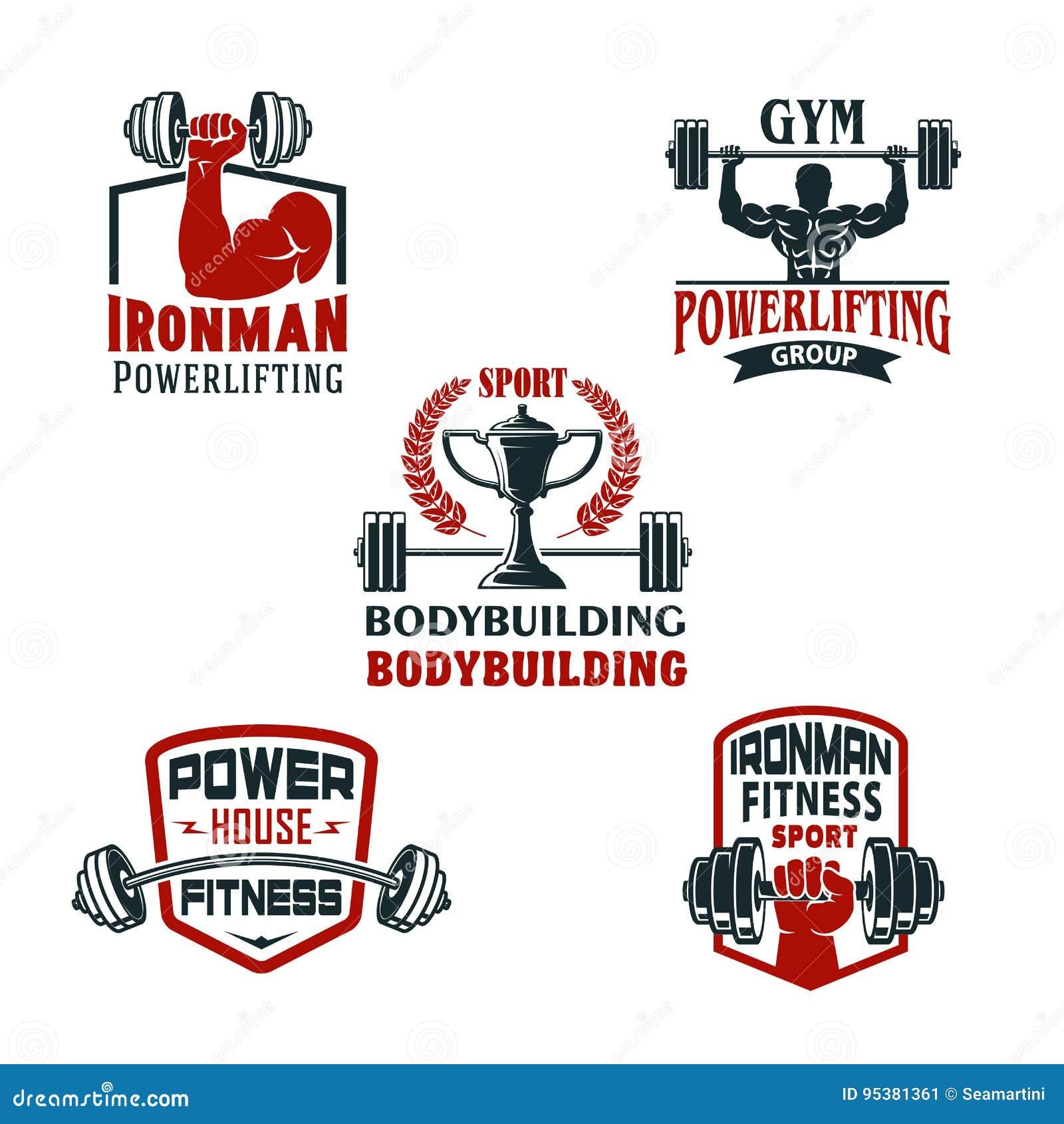 Bodybuildende Turnhalle der Vektorikonen oder powerlifting Verein