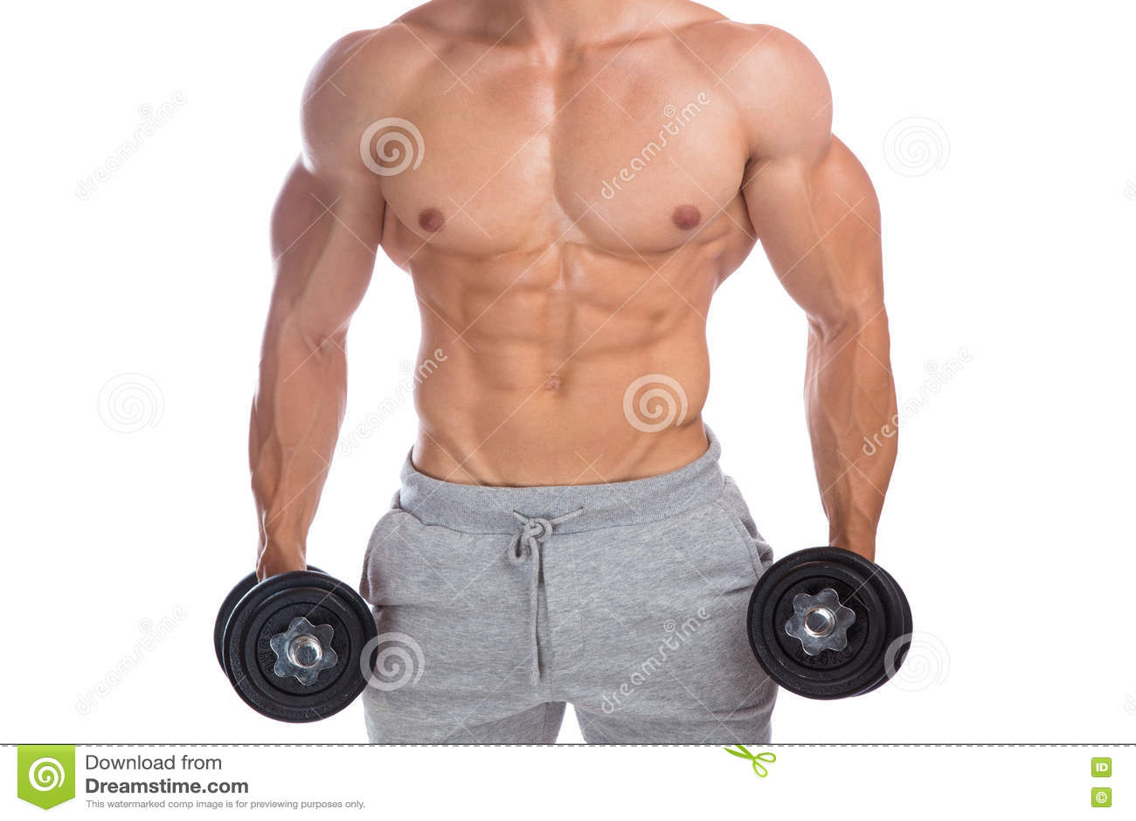 Bodybuilder Bodybuilding Muscles Upper Body Strong Muscular Man