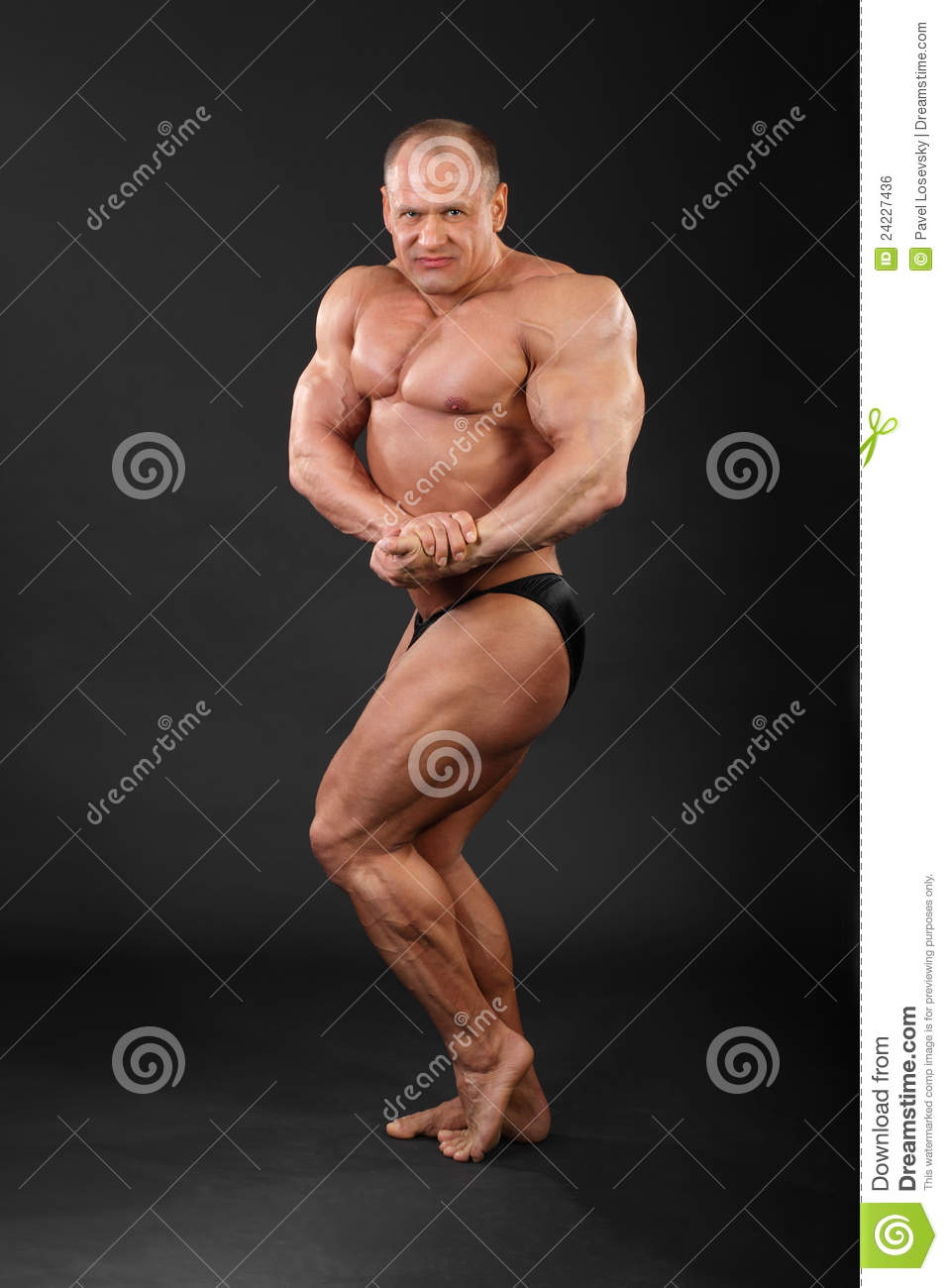 Bodybuilder Demonstrates Arms Legs Muscles Body Builders Pics With White