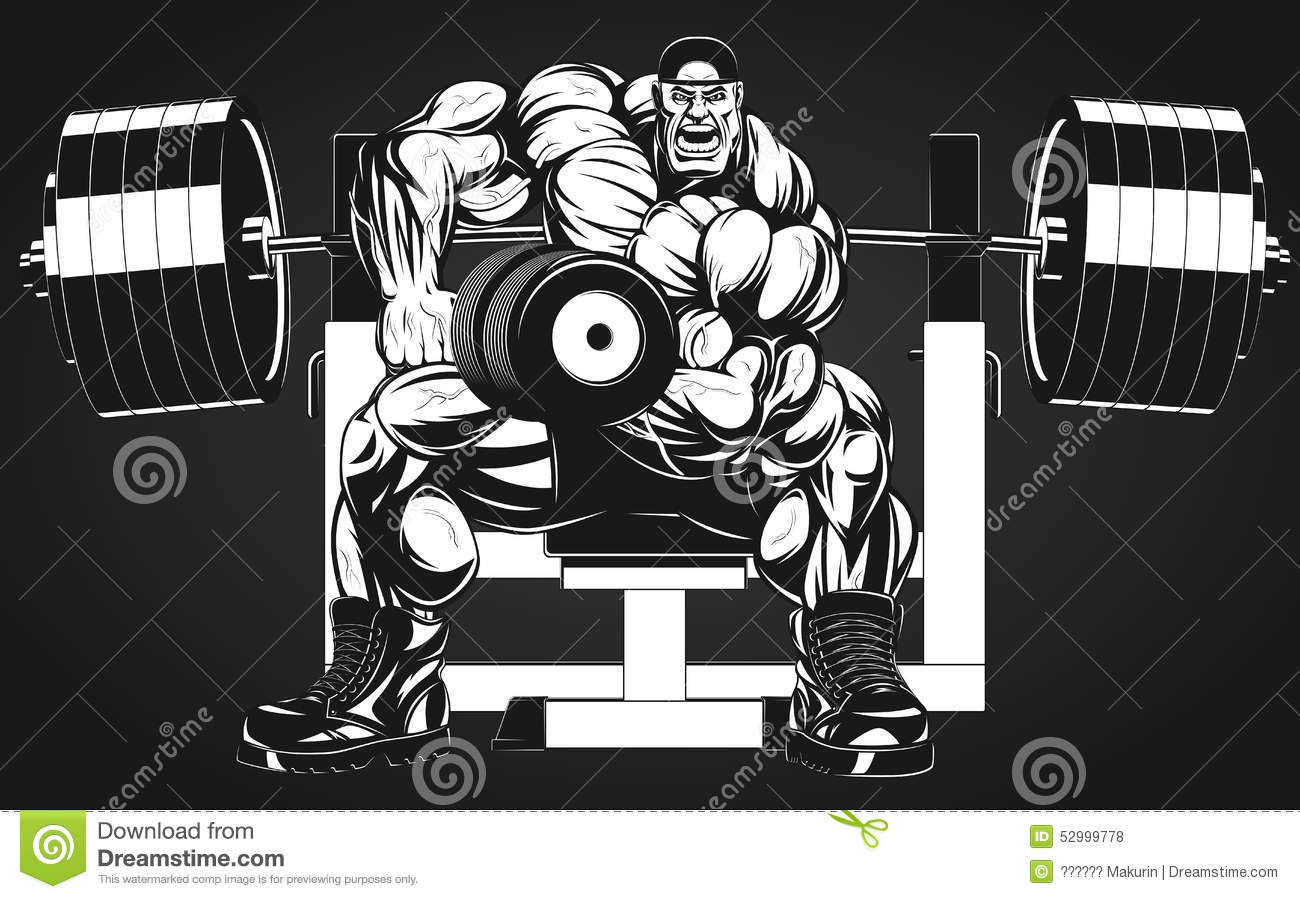 Bodybuilder with dumbbell stock vector image of dumbbell - Cartoon body builder ...
