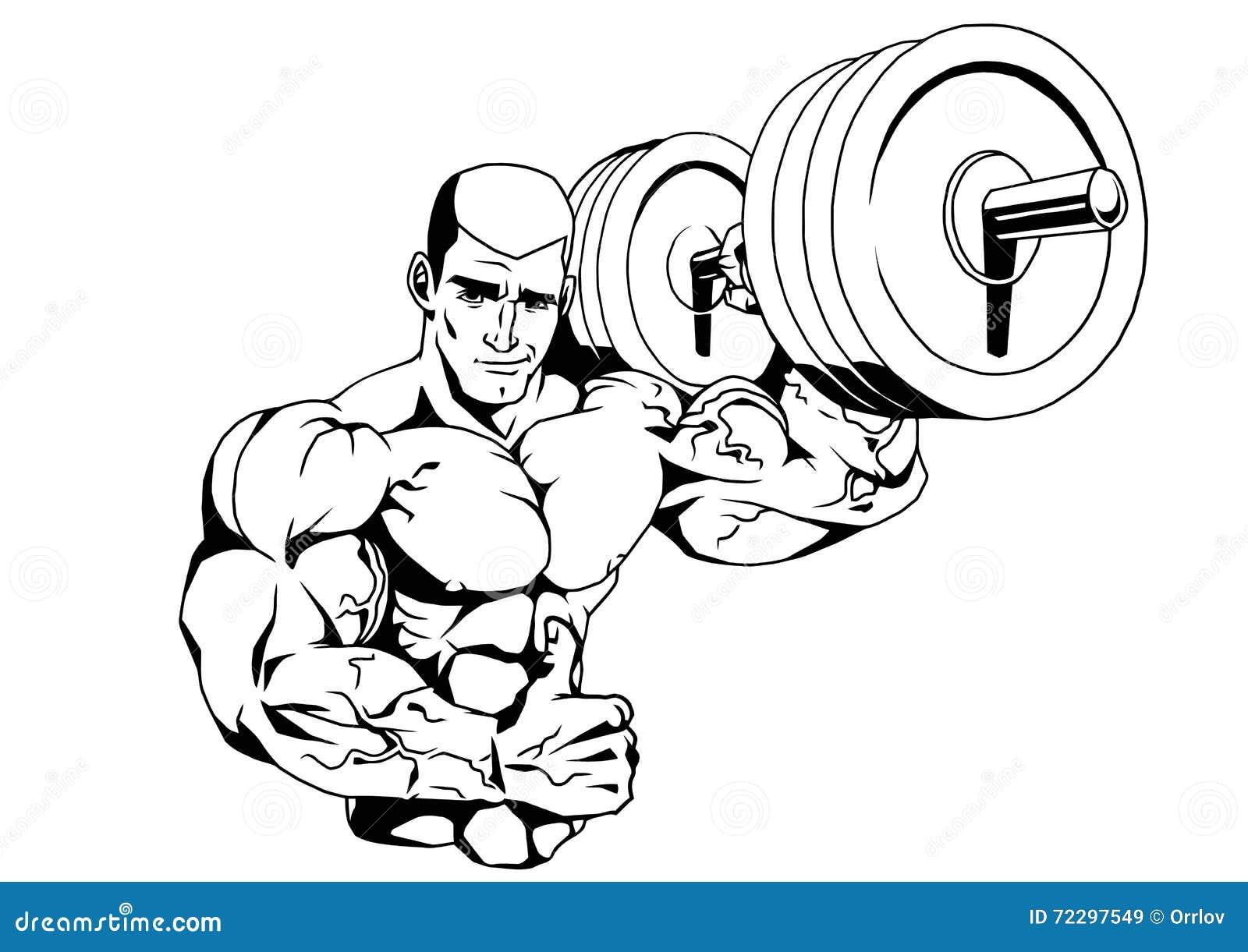 Bodybuilder en barbell