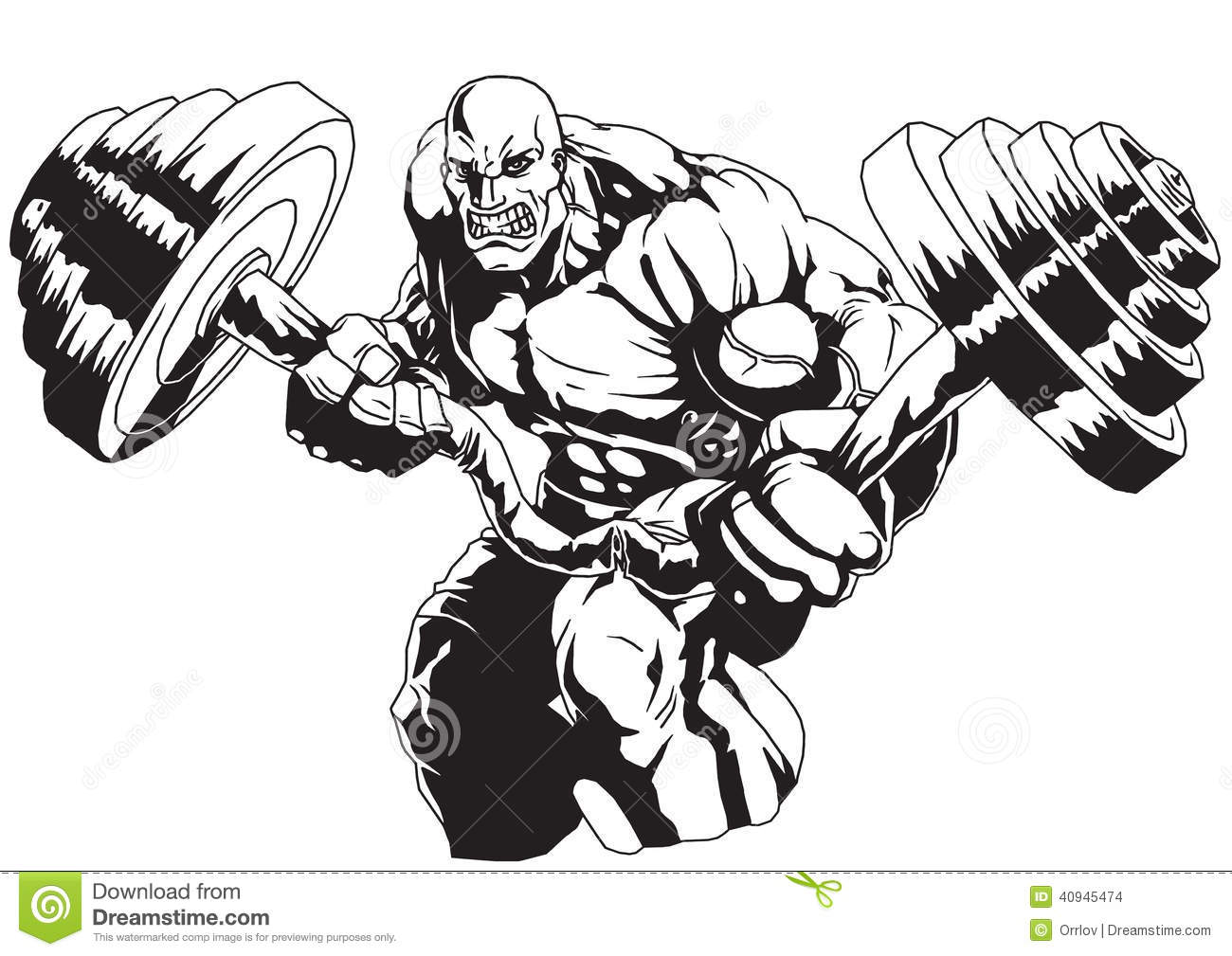 Bodybuilder Flex Heavy Barbell Stock Vector - Illustration of ... for Bodybuilding Graphic Design  131fsj