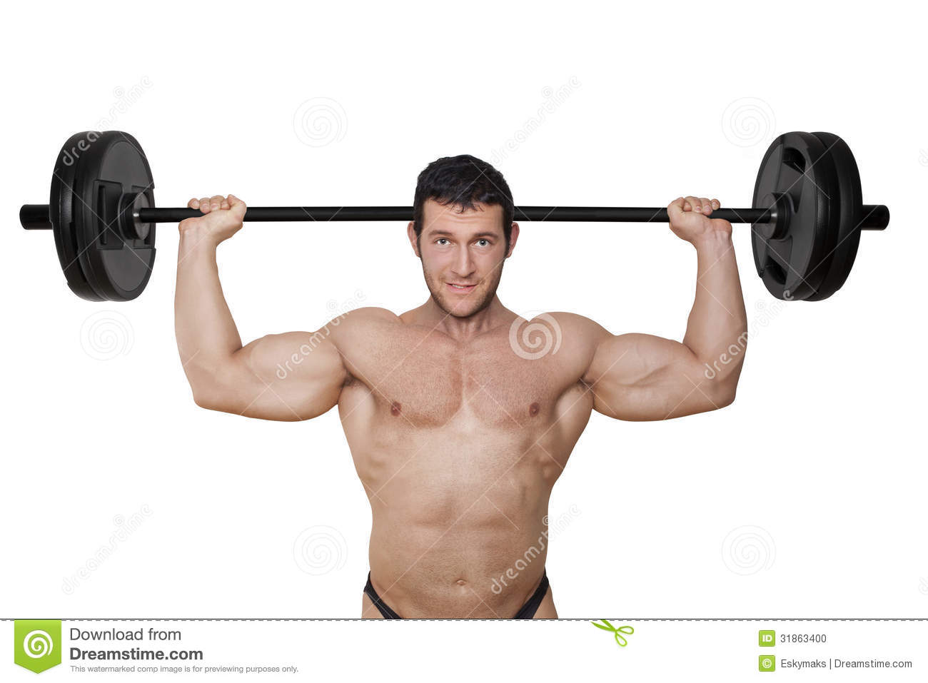 Bodybuilder Lifting Weights. Stock Photo - Image: 31863400