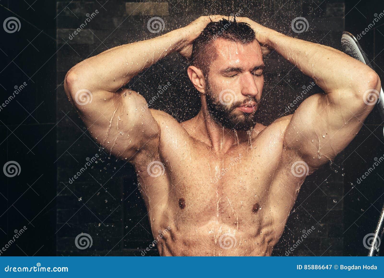 Homme bel sous la douche de l homme stock photos 41 images - Masturbation douche homme ...