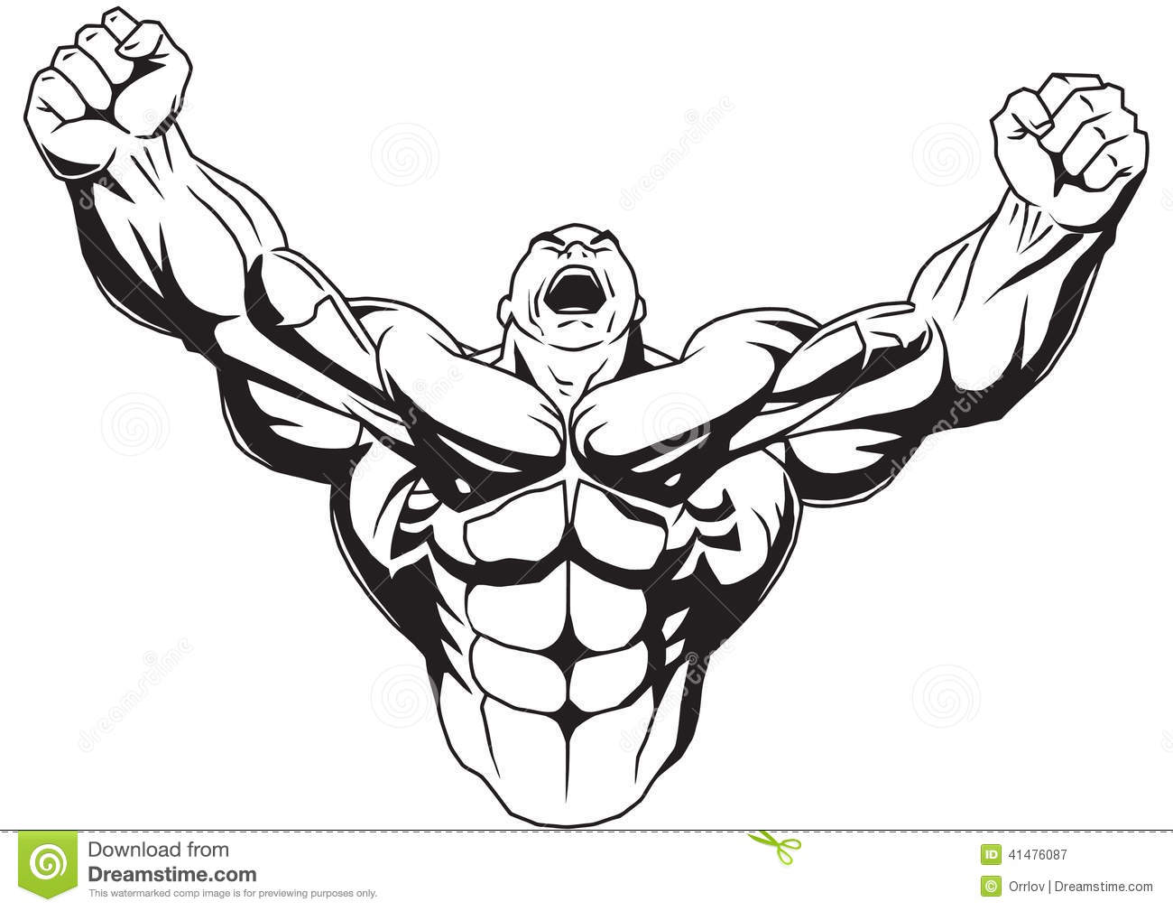 Bodybuilder cartoon vector 53759363 - Cartoon body builder ...