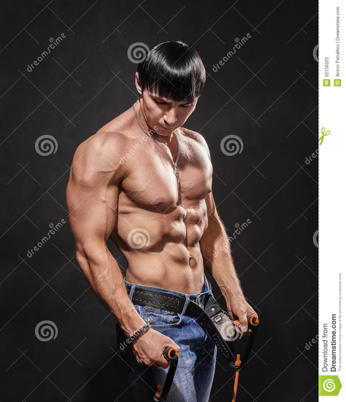 Bodybuilder Shakes His Shoulders Stock Image Image Of Masculine