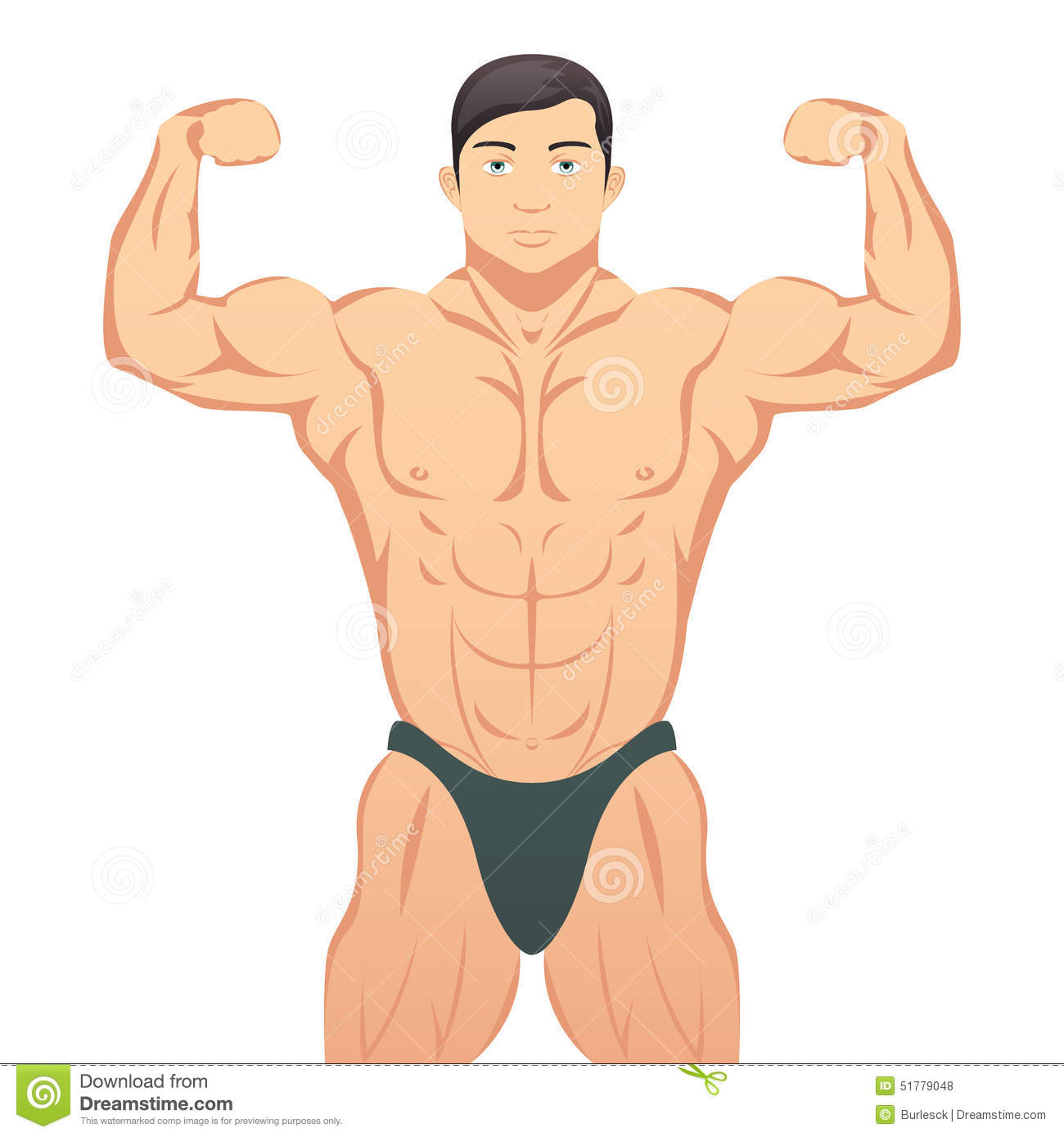 Muscle Drawing Body Building