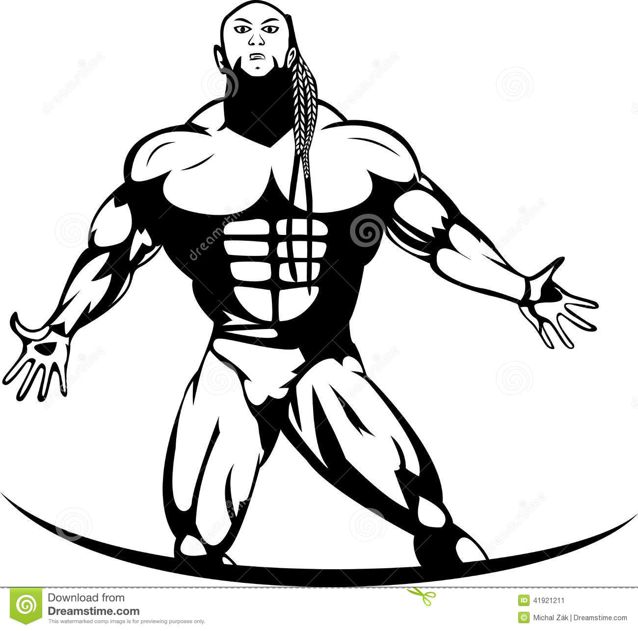 Silhouette Of A Professional Bodybuilder Stock Vector - Image ...